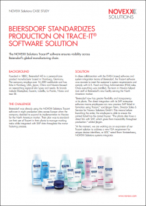 Case studies references NOVEXX Solutions - Beiersdorf